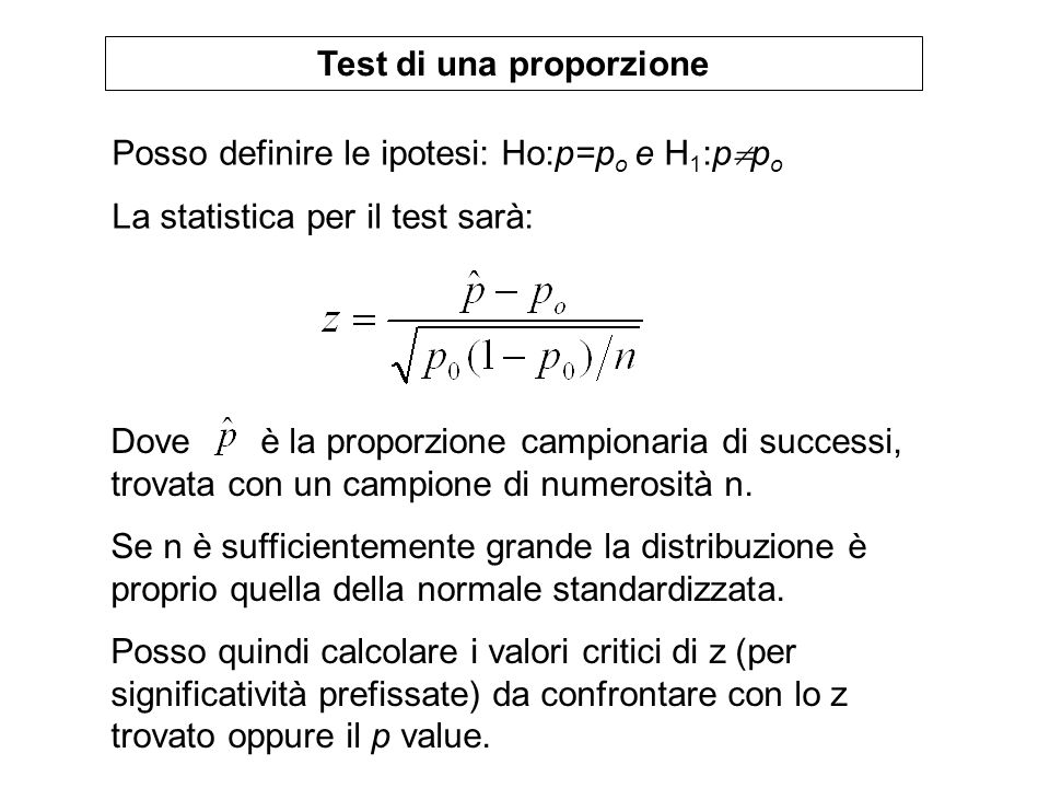 Test di una proporzione