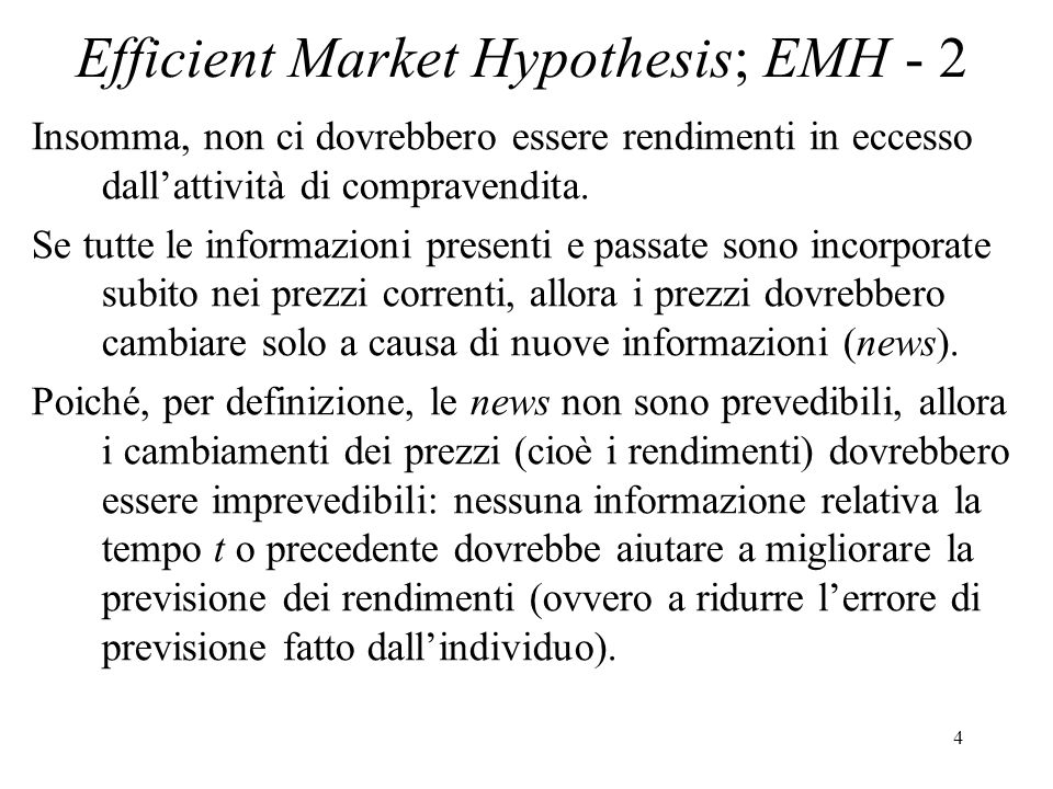 Efficient Market Hypothesis; EMH - 2
