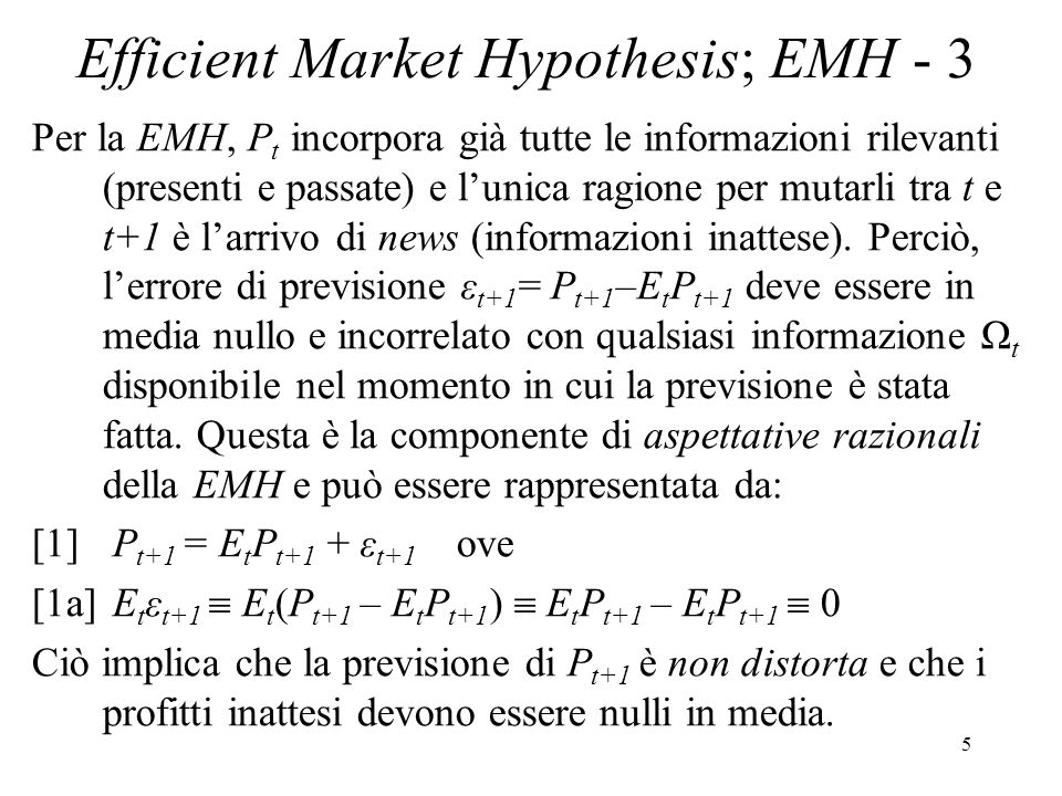 Efficient Market Hypothesis; EMH - 3