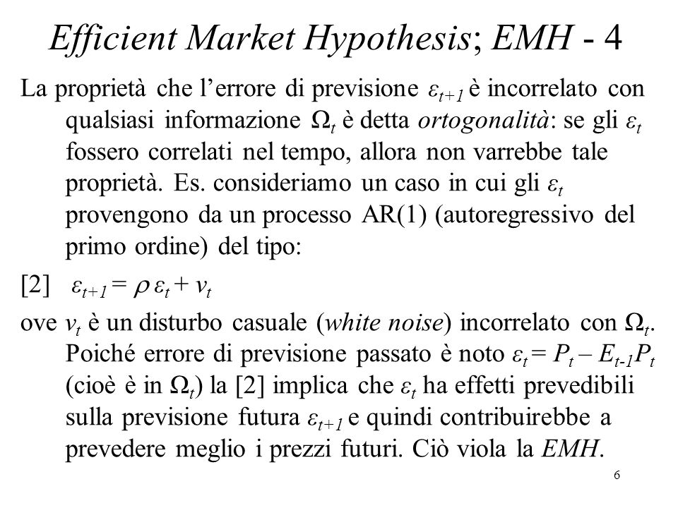 Efficient Market Hypothesis; EMH - 4