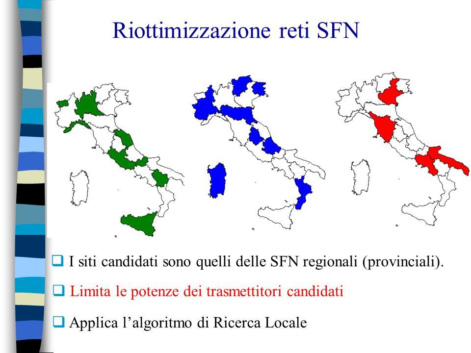 Riottimizzazione reti SFN