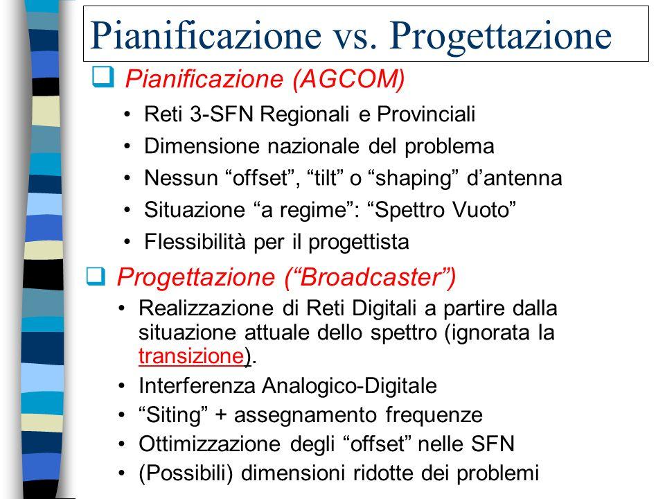 Pianificazione vs. Progettazione