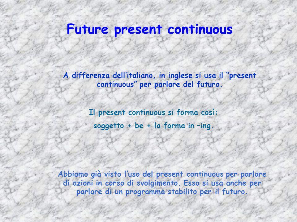 Future present continuous