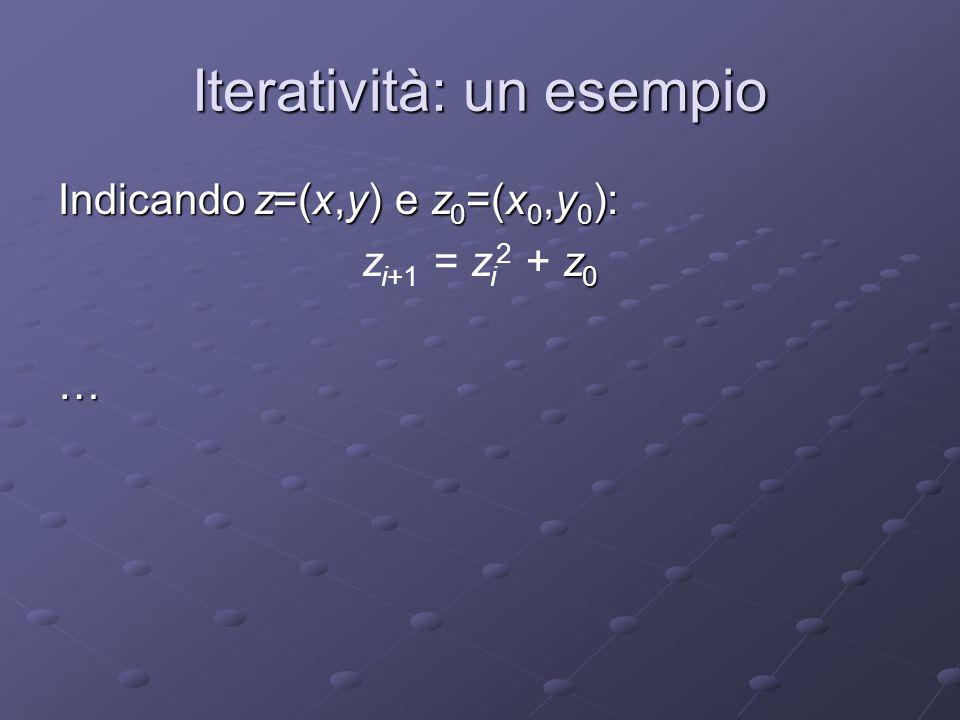 Iteratività: un esempio