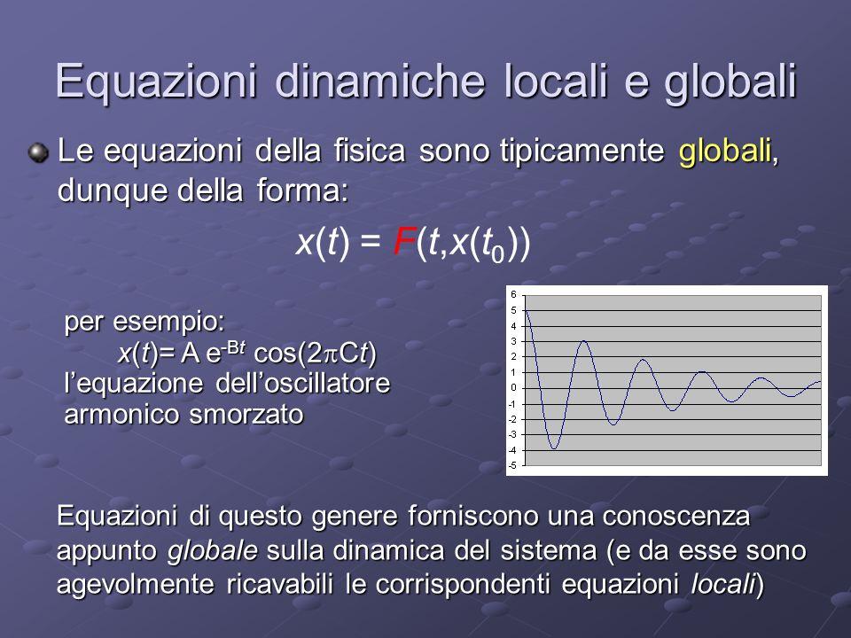 Equazioni dinamiche locali e globali