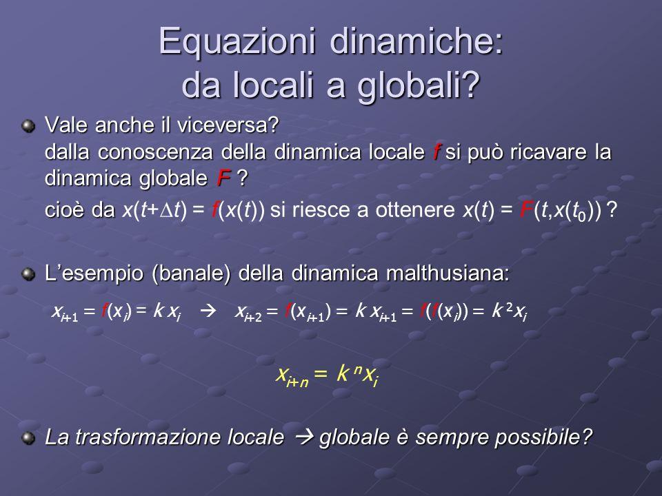 Equazioni dinamiche: da locali a globali