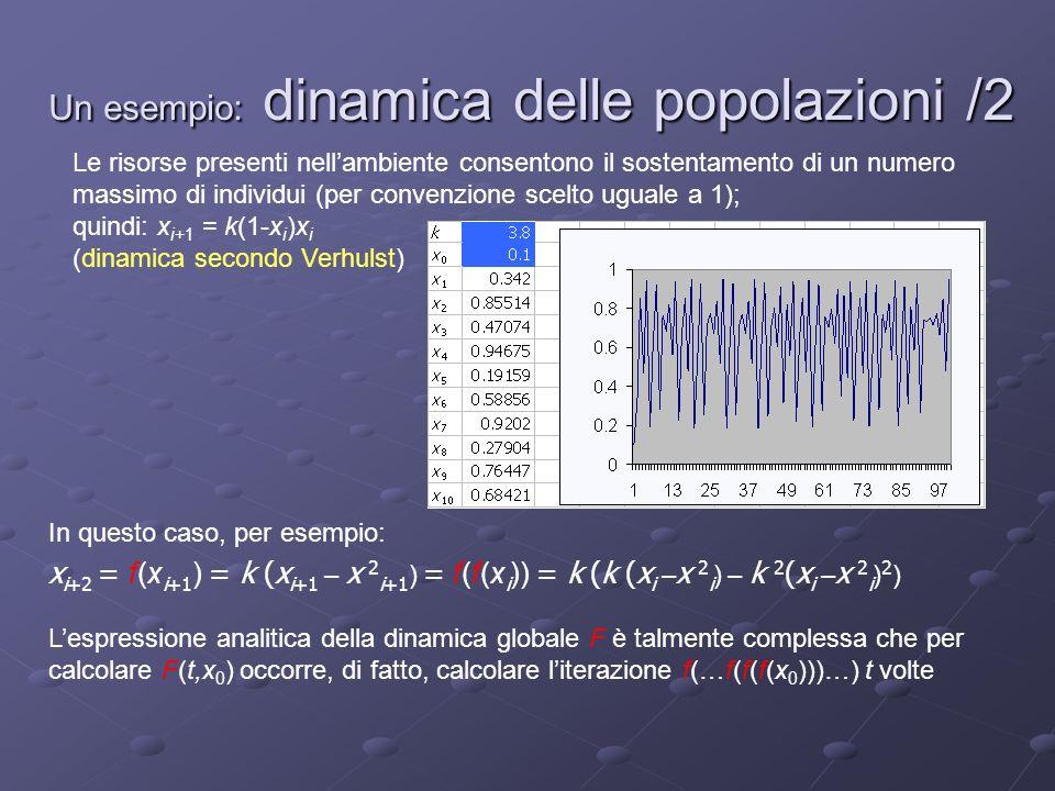 Un esempio: dinamica delle popolazioni /2