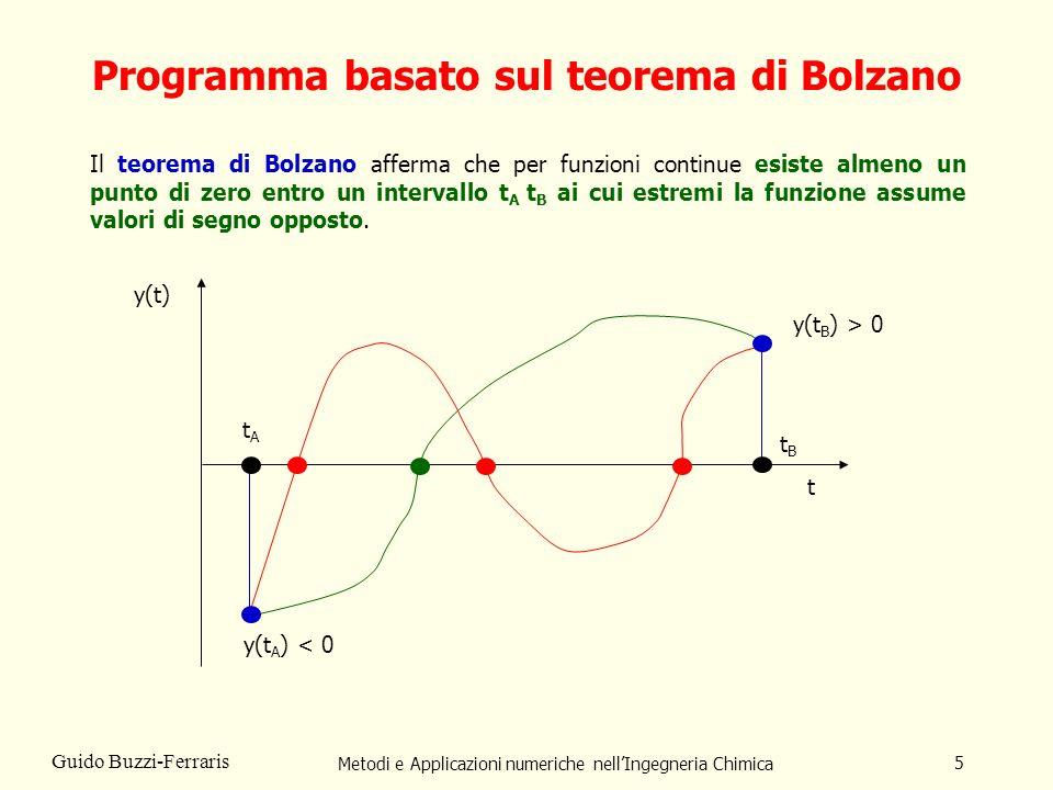 Programma basato sul teorema di Bolzano