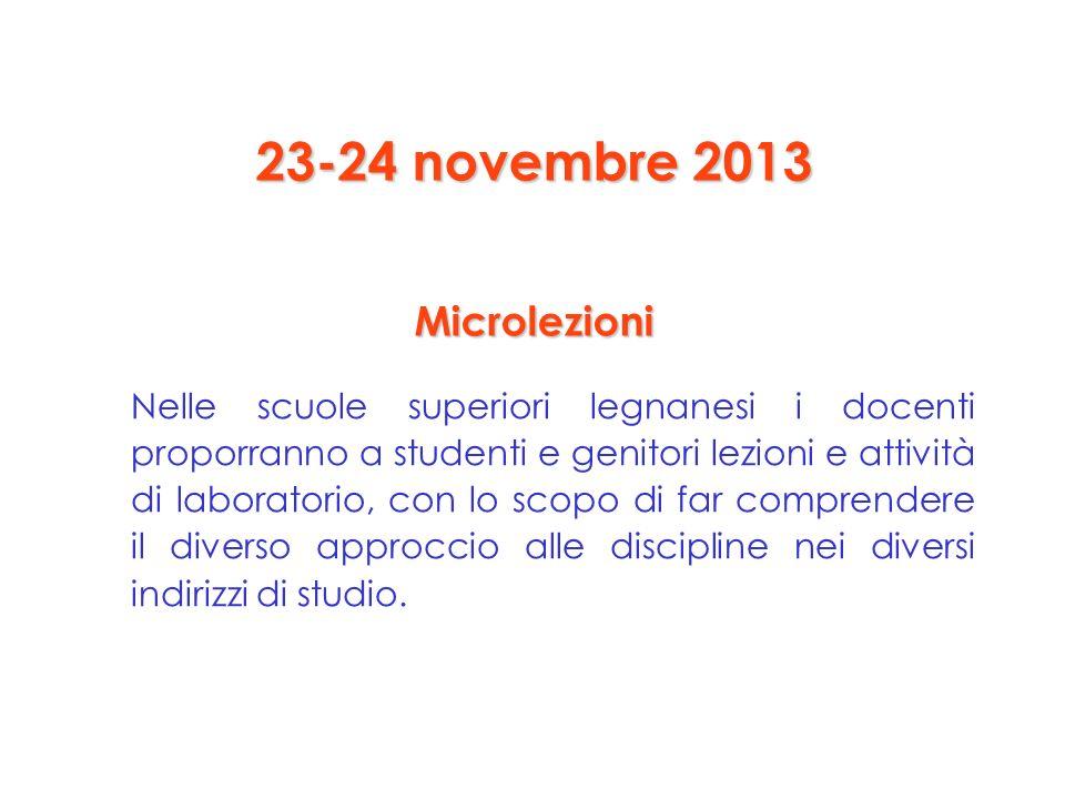 23-24 novembre 2013 Microlezioni