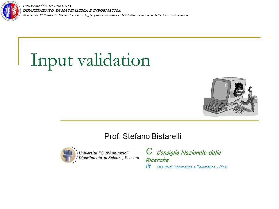 Prof. Stefano Bistarelli