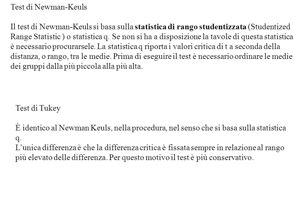 Test di Newman-Keuls