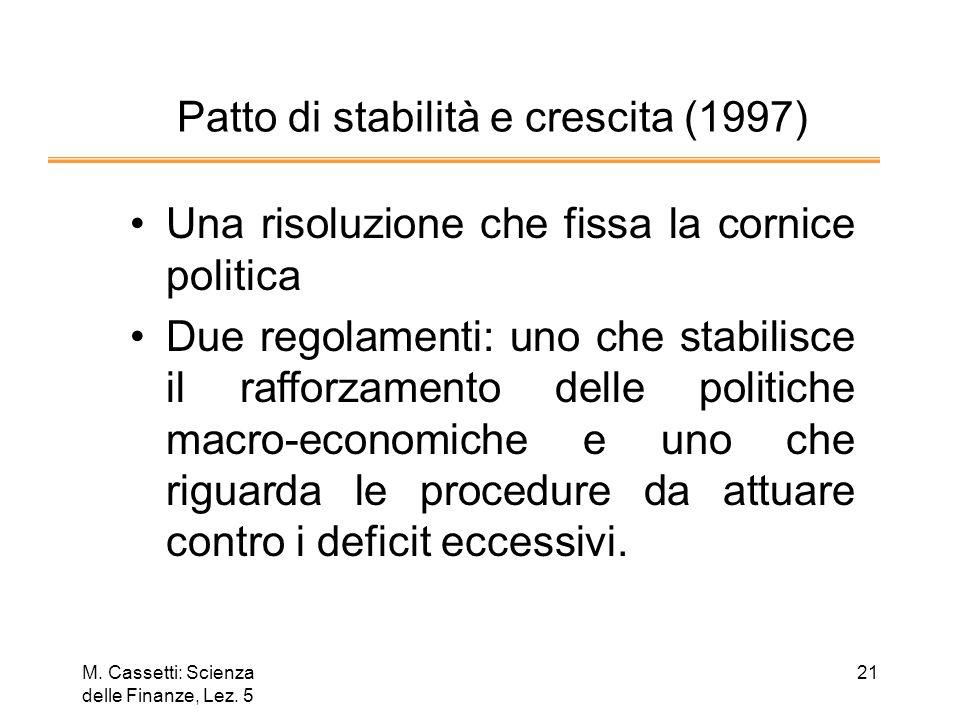 Patto di stabilità e crescita (1997)