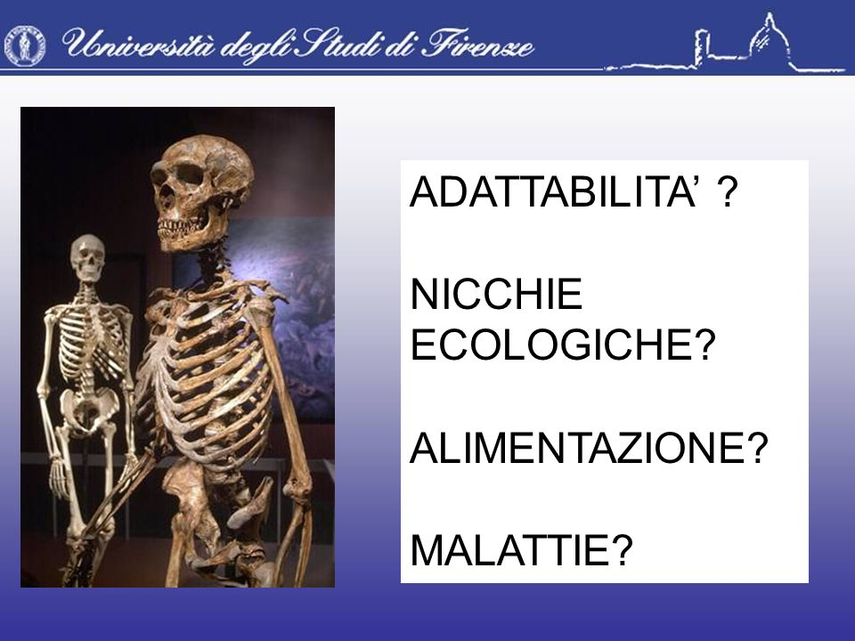 ADATTABILITA' NICCHIE ECOLOGICHE ALIMENTAZIONE MALATTIE
