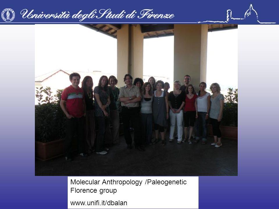 Molecular Anthropology /Paleogenetic Florence group