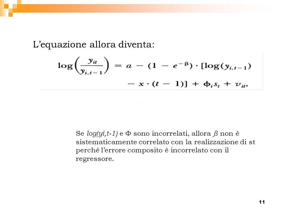 L'equazione allora diventa: