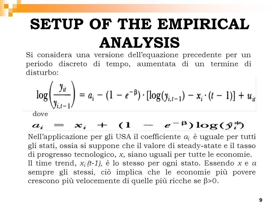 SETUP OF THE EMPIRICAL ANALYSIS