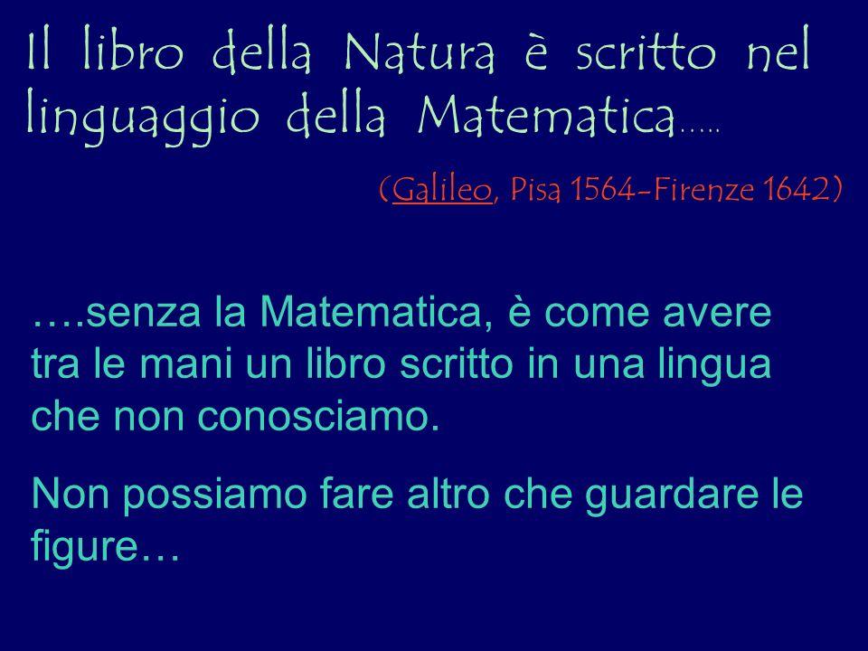 Il libro della Natura è scritto nel linguaggio della Matematica…..