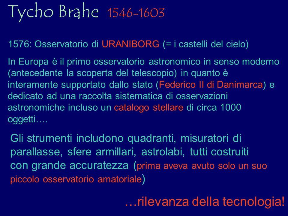 Tycho Brahe 1546-1603 …rilevanza della tecnologia!