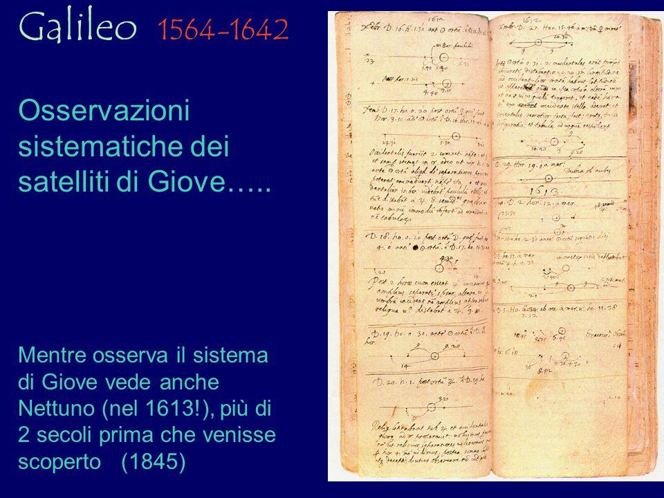 Galileo 1564-1642 Osservazioni sistematiche dei satelliti di Giove…..