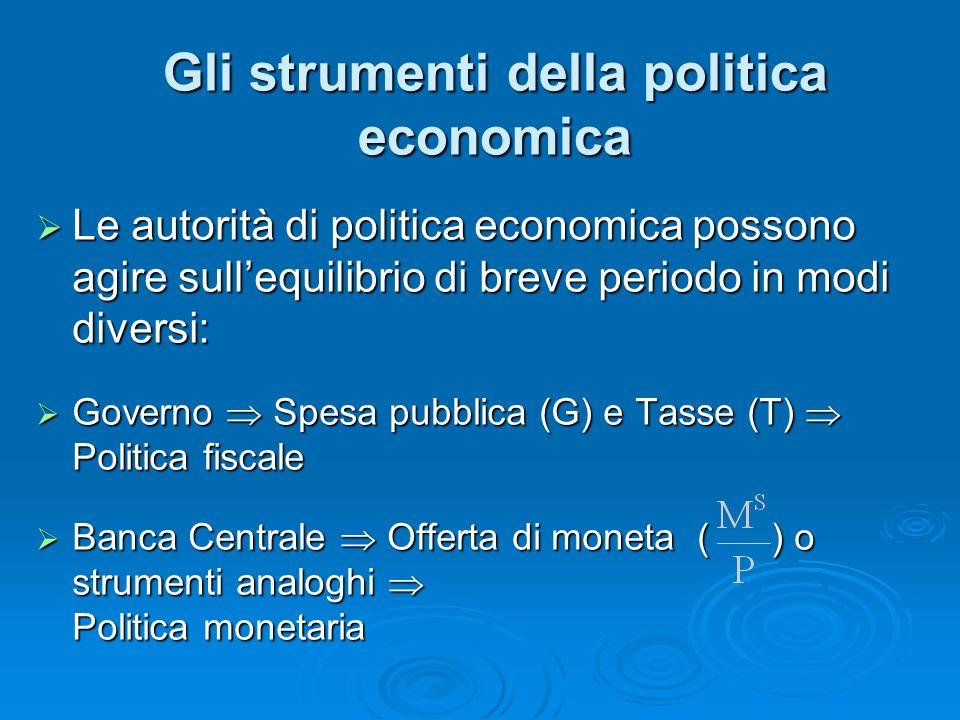 Gli strumenti della politica economica