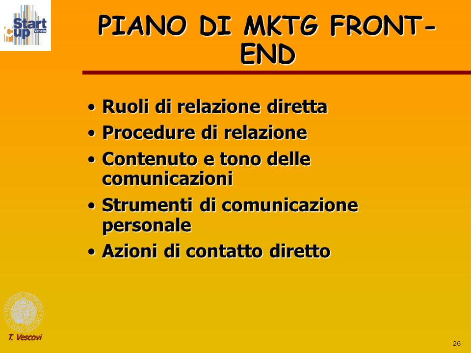 PIANO DI MKTG FRONT-END