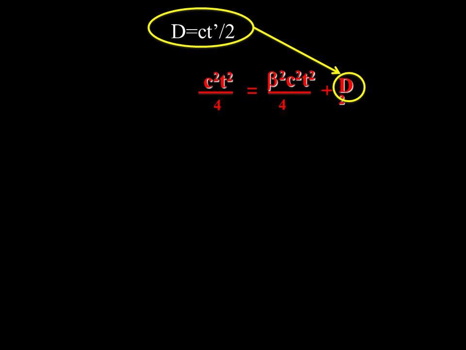 D=ct'/2 c2t2 b2c2t2 _ D2 = + 4 4