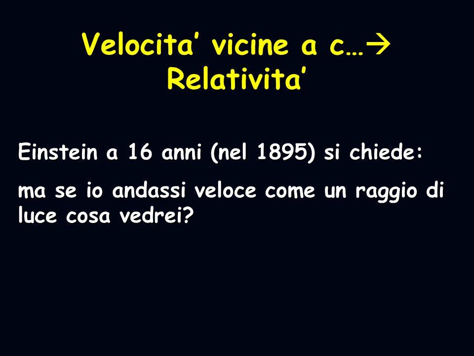 Velocita' vicine a c… Relativita'