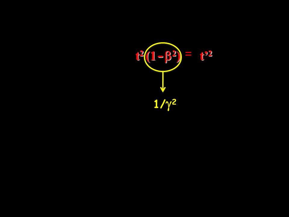t2 (1-b2) = t'2 1/g2