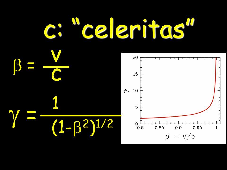 c: celeritas b = v c g = 1 (1-b2)1/2