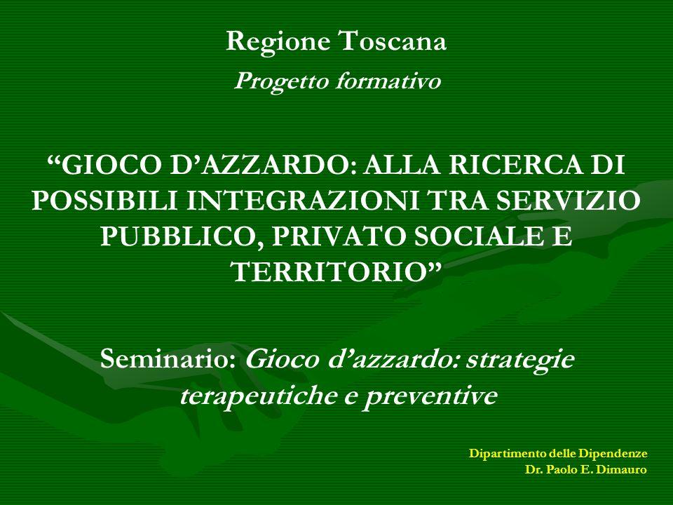 Seminario: Gioco d'azzardo: strategie terapeutiche e preventive