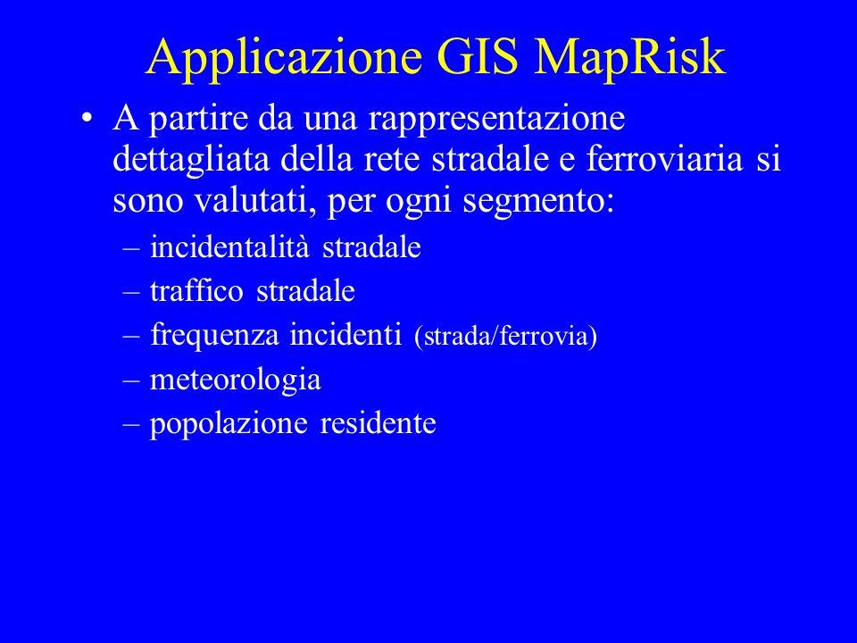 Applicazione GIS MapRisk