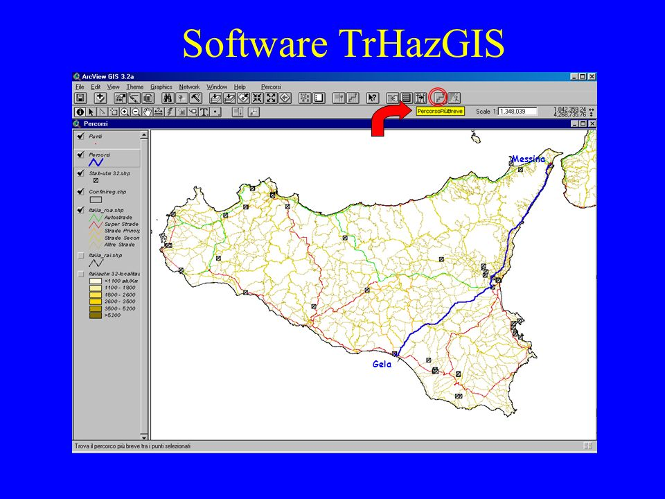 Software TrHazGIS Gela Messina