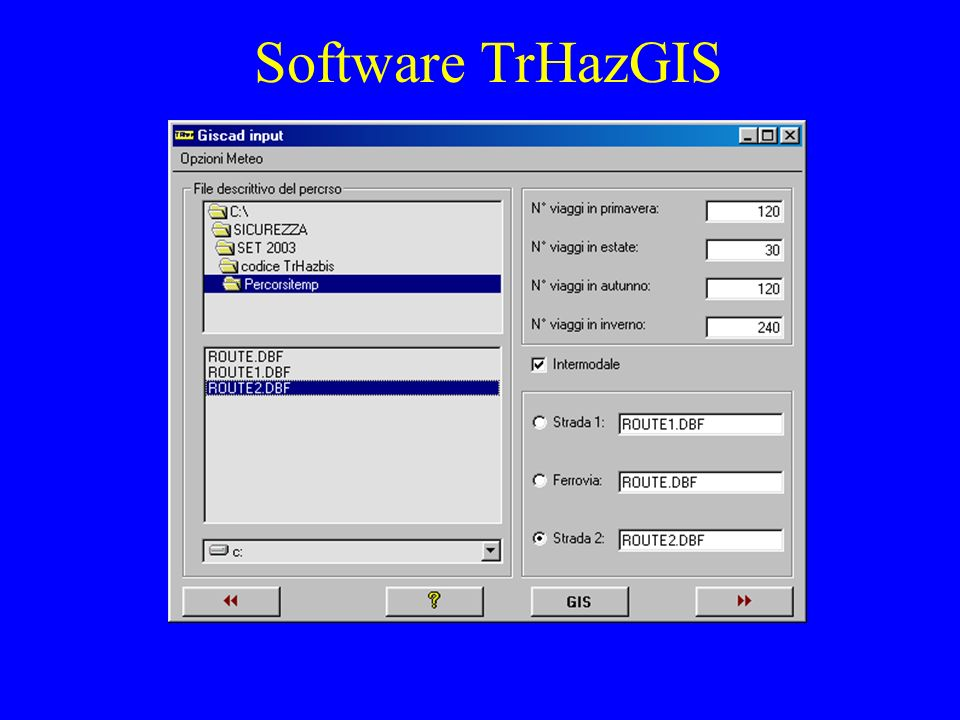 Software TrHazGIS
