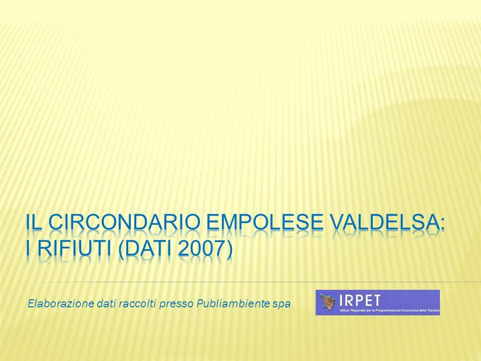 IL circondario empolese valdelsa: i rifiuti (Dati 2007)
