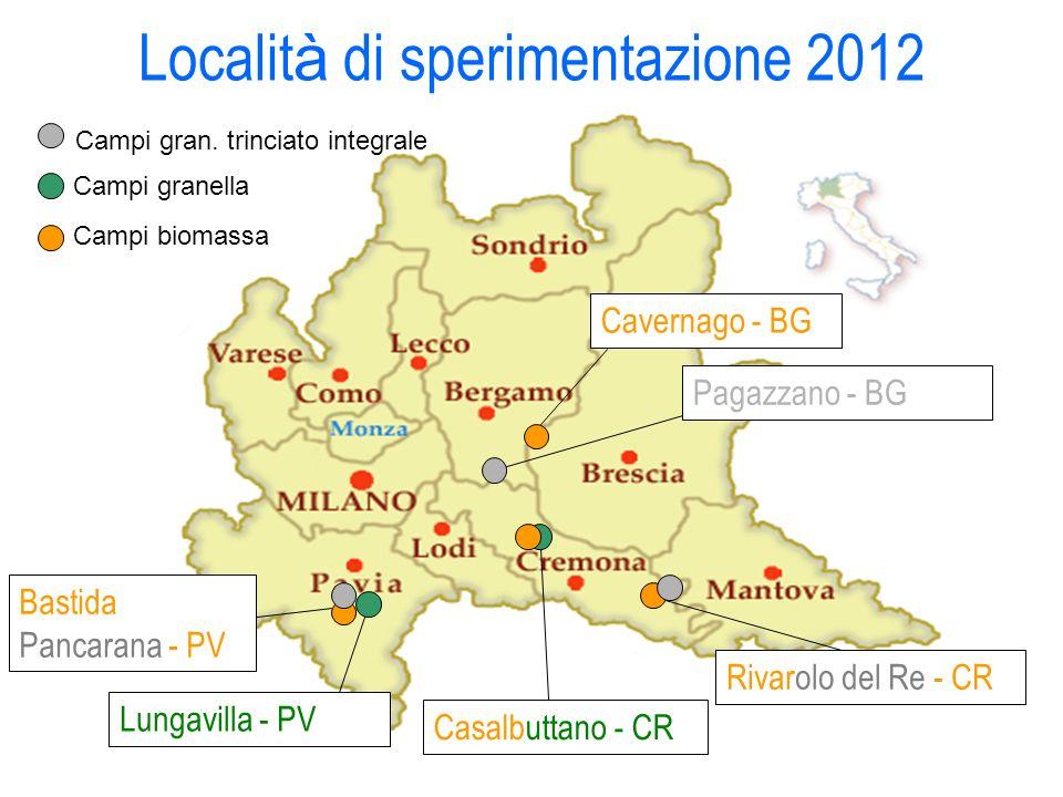 Località di sperimentazione 2012