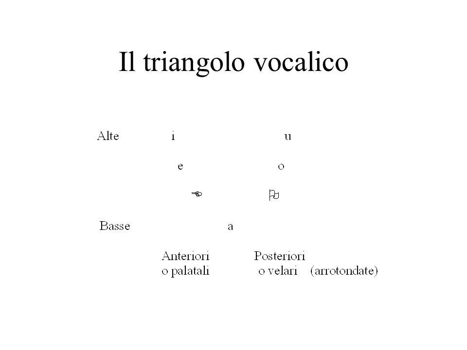 Il triangolo vocalico