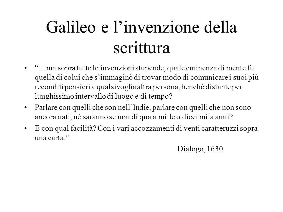 Galileo e l'invenzione della scrittura