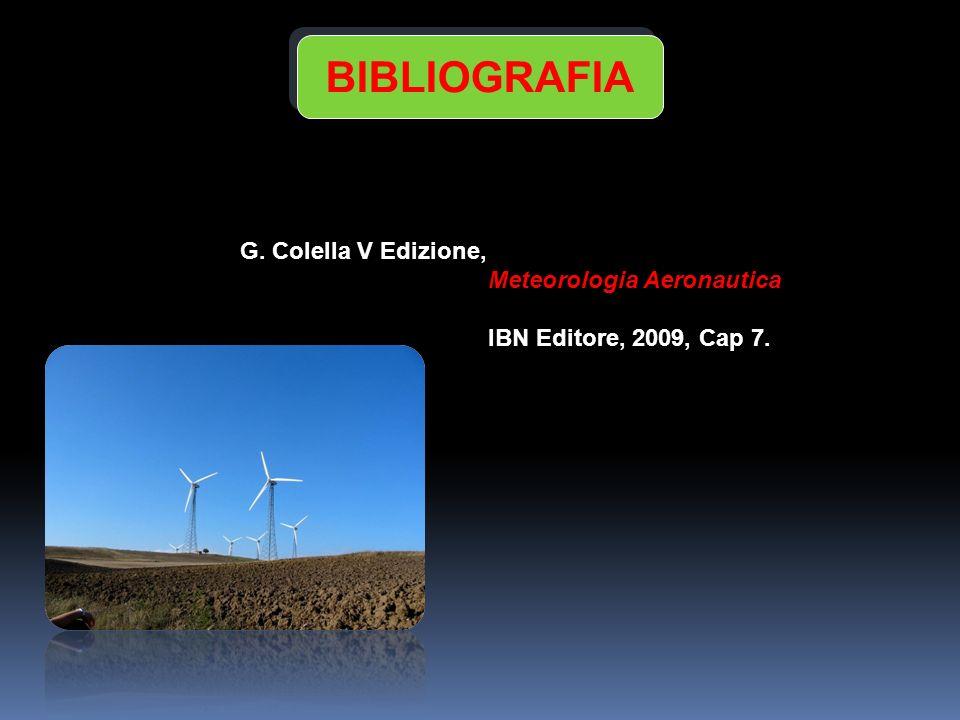 BIBLIOGRAFIA G. Colella V Edizione, Meteorologia Aeronautica