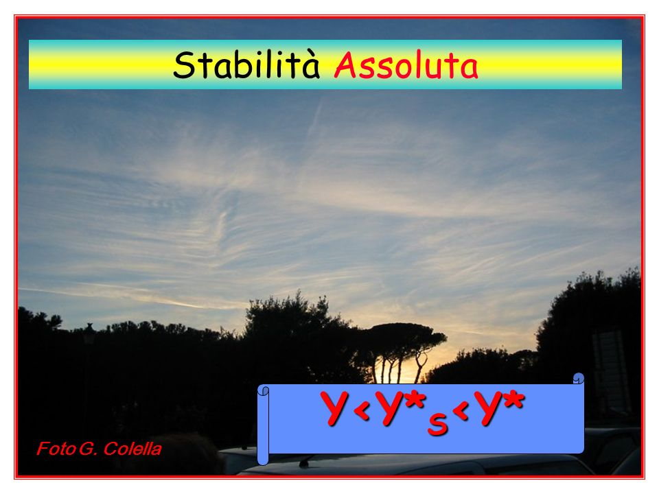 Stabilità Assoluta Y<Y*S<Y* Foto G. Colella