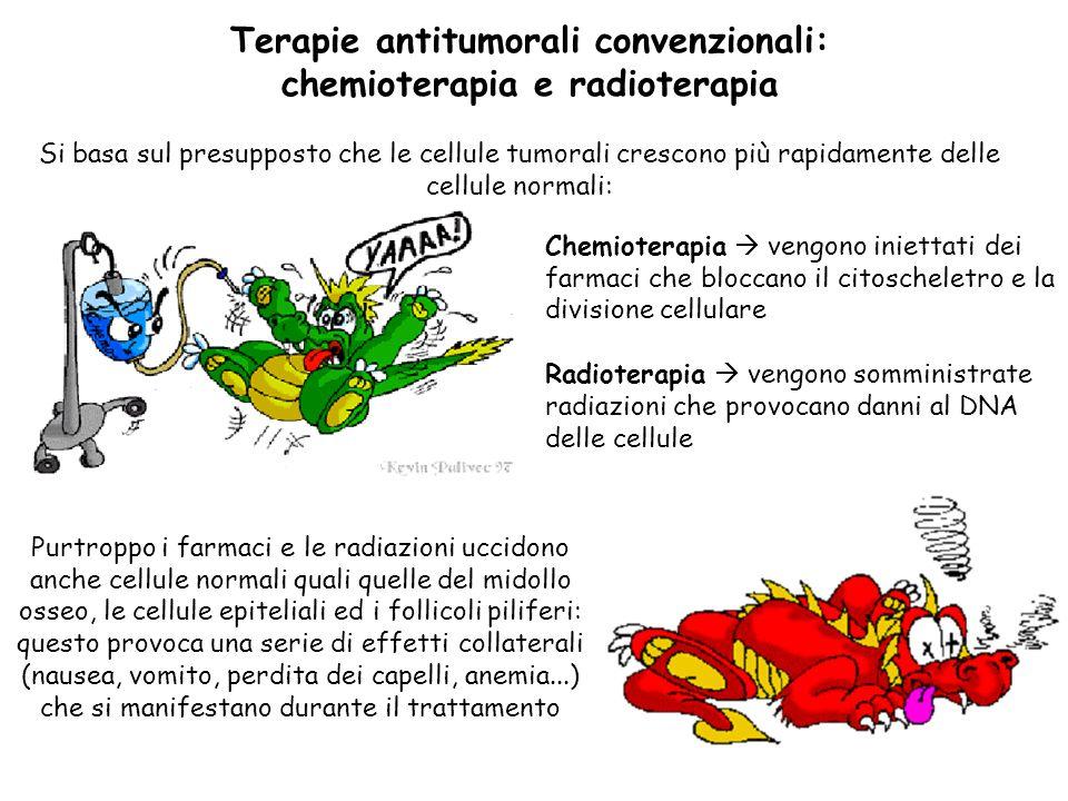 Terapie antitumorali convenzionali: chemioterapia e radioterapia