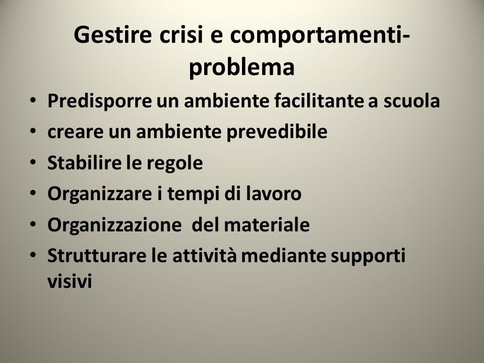 Gestire crisi e comportamenti-problema