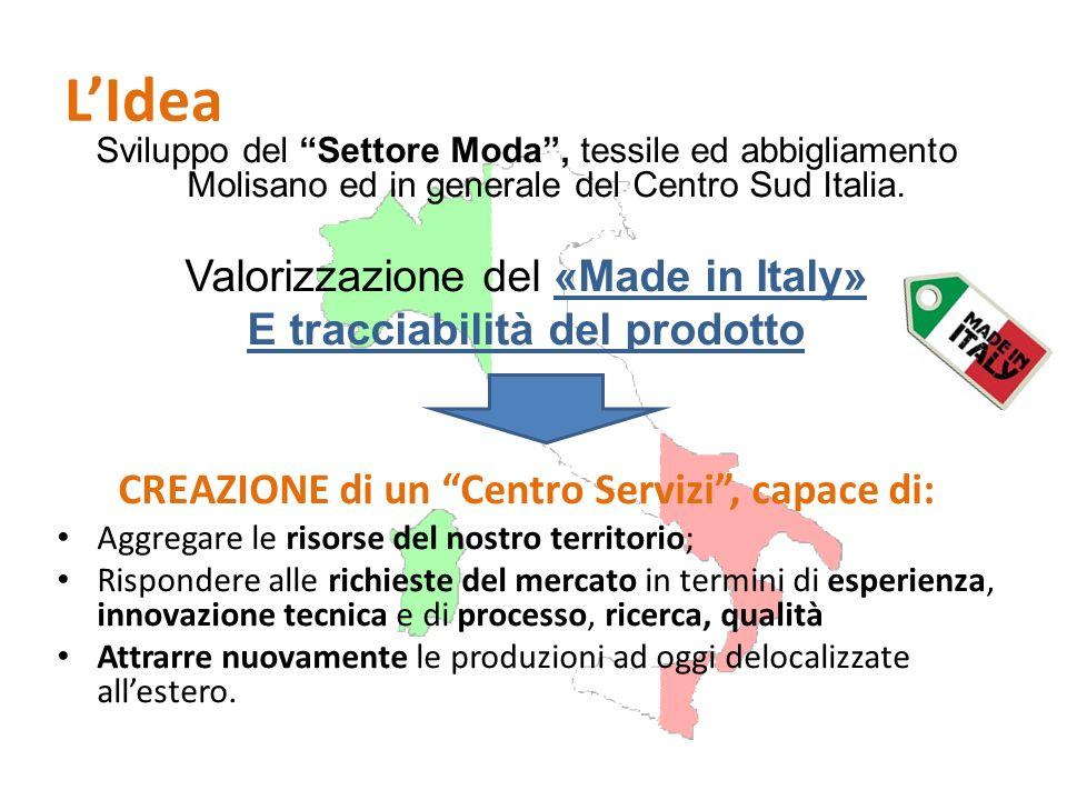 L'Idea Valorizzazione del «Made in Italy» E tracciabilità del prodotto