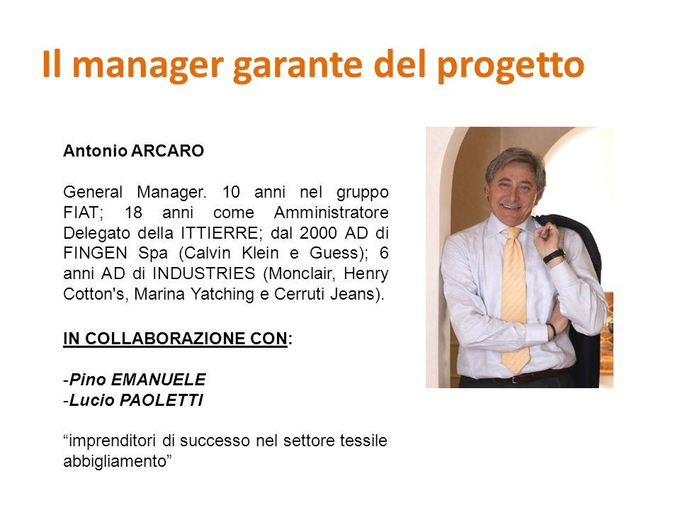 Il manager garante del progetto