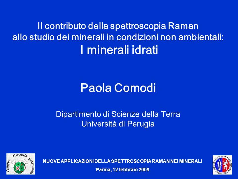 Paola Comodi Il contributo della spettroscopia Raman