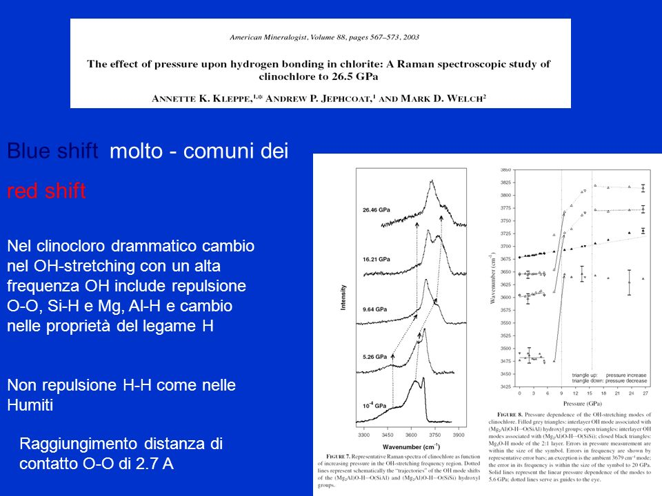 Blue shift molto - comuni dei red shift