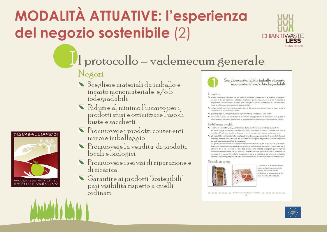 MODALITÀ ATTUATIVE: l'esperienza del negozio sostenibile (2)