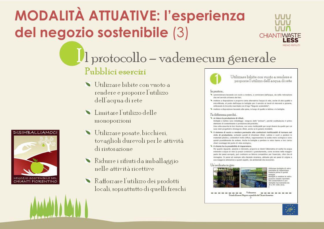 MODALITÀ ATTUATIVE: l'esperienza del negozio sostenibile (3)