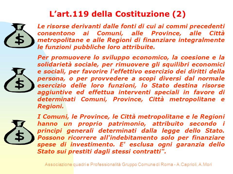 L'art.119 della Costituzione (2)