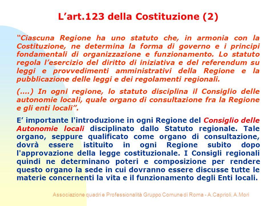 L'art.123 della Costituzione (2)