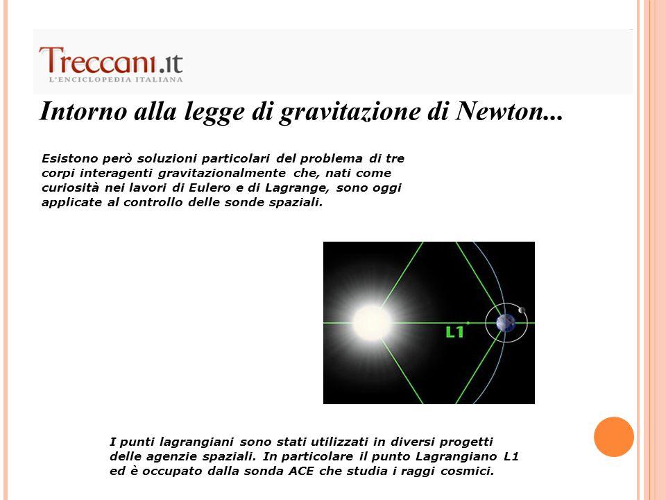Intorno alla legge di gravitazione di Newton...